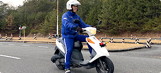 小型限定二輪車AT免許教習